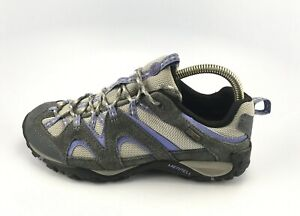 MERRELL J219929C Energis Waterproof Hiking Shoes Gray/Lavender Size 9 US