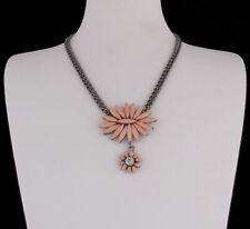 Modeschmuck-Halsketten aus Strass floralen Themen