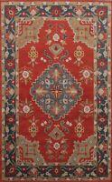 Geometric Traditional Oriental Area Rug Hand-tufted Wool Home Decor 6'x9' Carpet