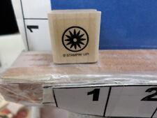 stampin up sunburst flower soid circle border rubber stamp 7y