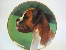 DANBURY MINT THE BOXER DOG TAKING A BREATHER PLATE