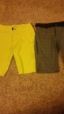 NWOT Club Ride Mountain bike Cycling Shorts Sz S Gray/Blue Plaid and Yellow