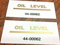 "3 OIL LEVEL 2 x 1/2"" gold die cut oil tank transfers BSA '50-68 Norton '60-68"