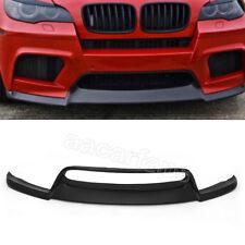 Black FRP Front Bumper Lip Spoiler Fit For BMW E71 X6M E70 X5M 10-14 Unpainted