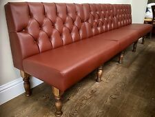 Deep Buttoned Free Standing Seating On Turned Legs Banquet/bench/booth/home/bar