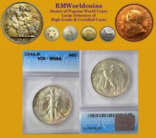 1941 D Half Dollar, Superb ICG 66, Very Nice High Grade