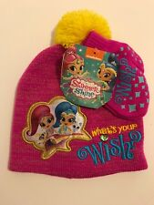 Nickelodeon Shimmer and Shine 2pc Set Beanie and Mittens Glove Winter Hat NWT