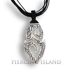 TRIBAL Amuleto Ciondolo Collana Osso Bone Maori design pb309