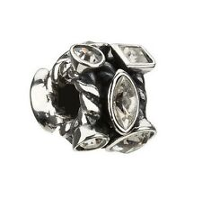JC-2A AUTHENTIC CHAMILIA STERLING SILVER MARQUIS CZ CLEAR SWAROVSKI bead
