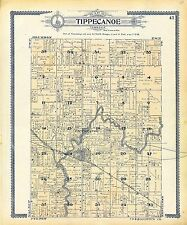 Marshall County Indiana atlas 1908 history plat maps Genealogy Dvd P130
