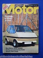 The Motor  Magazine - Nov.3rd   1973 - Reliant Robin, Datsun 240K