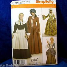 Simplicity 3723 Historical 4 Dress, Hat Costume SEWING Pattern sz 6-12 uncut new