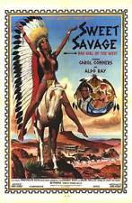 SWEET SAVAGE original SEXPLOITATION poster CAROL CONNORS/BAD GIRL OF THE WEST