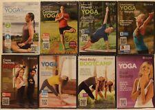 New 8 Gaiam workout Dvd lot yoga cross training bootcamp Rodney Yee power up