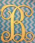 """18"""" Wooden Vine Interlocking Font Letter Unfinished wood letters Custom Letter"""