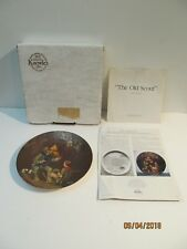 """Knowles China Norman Rockwell Collector Plate """"Old Scout"""" Nib Coa"""