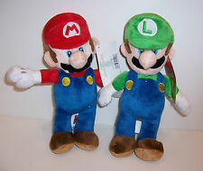 "SET/2 Nintendo SUPER MARIO BROS & LUIGI Large 11"" PLUSH DOLLS Doll Toy NEW!"