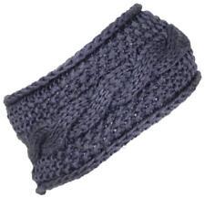 Best Winter Hats Womens Rib Stitch Cable Knit Circle Headband/Warmer #475 Gray