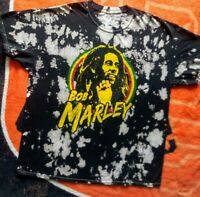 Bob Marley T-shirt Zion Rootswear X-Large Reggae Rasta Tie Dye