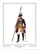 Militär Landgrafschaft Hessen-Kassel um 1760 Poster Kunstdruck Bild 30x24cm