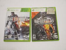 Xbox 360 : Battlefield 3 & Battlefield 4 Both in Very Good Condition No Manuals