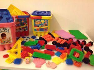 Playskool Stickle Bricks Flair Stickle Bricks Various Sets Special Parts Tubs