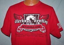 Dierks Bentley 2013 Miles & Music Concert & Bike Ride Red T-Shirt L Motorcycles