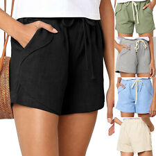 Women Summer Casual Drawstring Shorts with Pockets Lounge Pants Shorts Plus Size