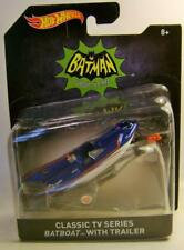 CLASSIC TV SERIES BATBOAT WITH TRAILER 1:50 SCALE DIECAST HOT WHEELS HW 2016
