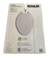 Kohler Layne Antimicrobial Slow-Close Toilet Seat White Plastic NEW
