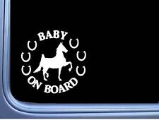 Saddlebred Baby On Board Sticker L749 6 inch Horse rescue decal