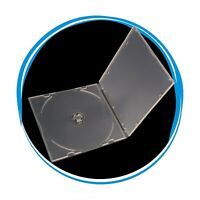 100 Pack 5.2mm Single Super Clear CD DVD R CDR DVDR Disc PP Poly Plastic Case