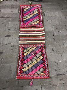 FREE SHIPPING! Saddlebag Kilim Rug 1.7x5.1ft Vintage Runner Rug Handmade Rug