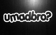 UMADBRO Sticker Decal JDM Vinyl funny Drift Racing Lowered Fatlace