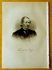 THOMAS H. PAGE Ayer, Massachusetts MA Steel Engraving Portrait 1890