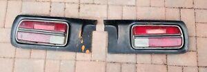 Datsun 240z Tail Lights Housing and Trim Panel Set Left & Right Vintage Original