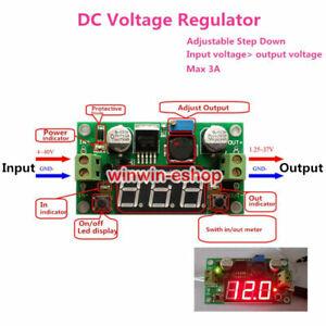 LED Display LM2596  Voltage Regulator Module DC 4V-40V to 3.3V 5V 12V 19v 24v 3A