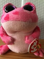 """Ty Beanie Boo Boos Smitten the Valentine's Frog 6"""" NEW MWMT - FREE Shipping!!"""