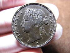 1874 H Straits Settlements 1 Cent One Cent KM#9