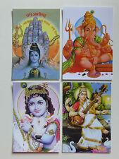 HINDÚ Tarjeta Postal Juego (21) Shiva -GANESH-Krishna-Saraswati