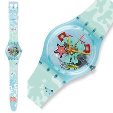 orologio swatch uomo donna unisex piscina skeleton da collezione nuovo azzurro