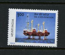 R444  India 1982  oil drilling rig   1v.  MNH
