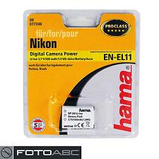Akku Li-Ion Hama für Nikon Coolpix S550 S560, Pentax V20 M50 M60 W60, Ricoh R50