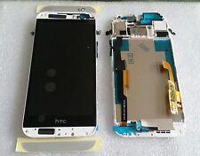 LCD Touchscreen Display Digitizer Komplett Glas mit Rahmen Weiss HTC ONE M8