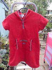 Filles Sweat à Capuche Robe par o kids verbaudet. 10 ans 138 cm Cosy Rouge Polaire Ex. Cond.