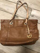 Michael Kors Genuine Tan Brown Leather Tote Shopper Bag