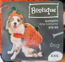 BOOTIQUE Dog Cat Halloween PUMPKIN COSTUME w/Hat XXS NWT