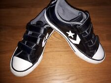 Converse Star Player 3v Ox Trainers Children Shoes Black. Leather.  Used once