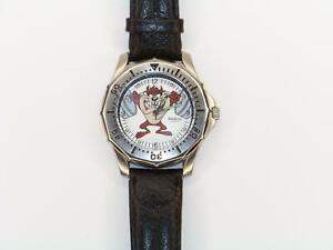Taz 2200 144 Tasmanian Devil Weight Lifting Mens 1994 Armitron Watch Works Great
