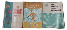 More details for set bundle 3 vintage brownie guide, girl guide, ranger guiding handbooks books